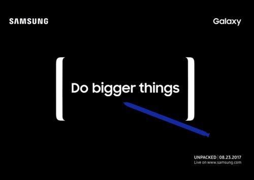 Samsung gui thu moi su kien Unpacked ngay 23/8: Note 8 ra mat? hinh anh