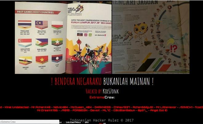 Website Malaysia bi tan cong vi su co in nham co tai SEA Games hinh anh