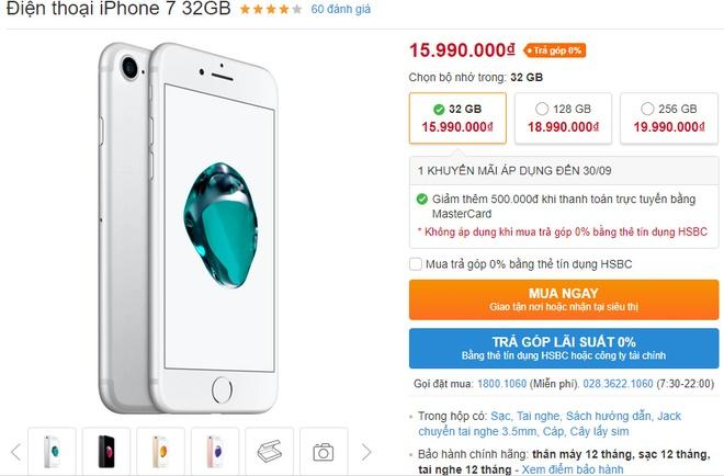 iPhone 8 ve nuoc, iPhone 7 giam gia 1-1,5 trieu dong hinh anh 1