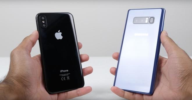 Doanh so mo ban iPhone X bang 1/3 so voi Galaxy Note 8 hinh anh 1