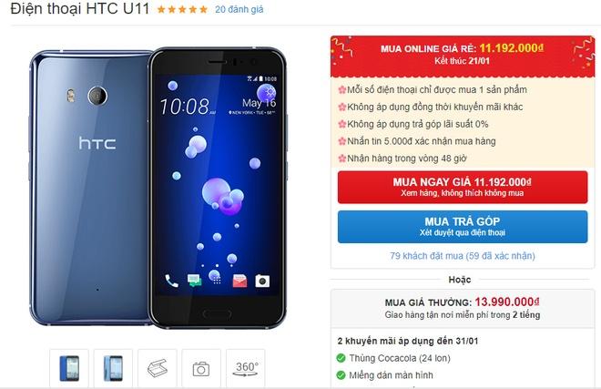 HTC U11 giam gia gan 6 trieu dong tai Viet Nam hinh anh 2