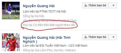 200 tai khoan Facebook gia mao cau thu va HLV U23 Viet Nam hinh anh 1