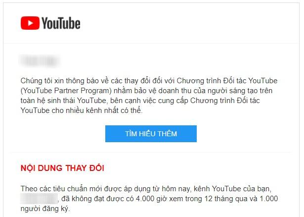 Kenh YouTube bi tat kiem tien anh 1