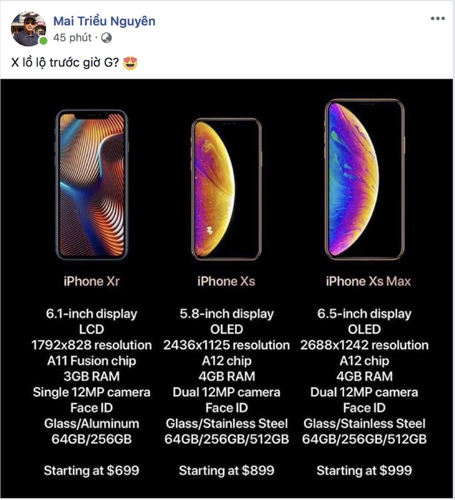 iPhone XS, XS Max, XR ra mat: Camera va pin tot hon, co ban 2 SIM hinh anh 4