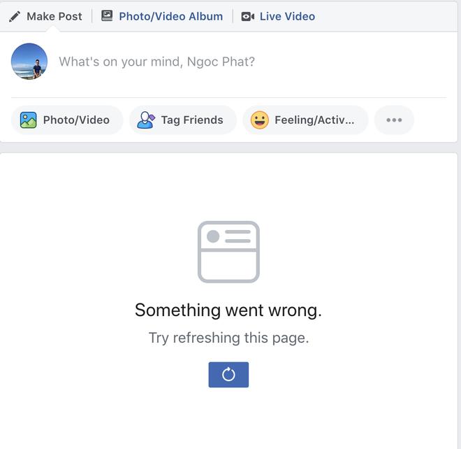 Nhieu nguoi khong truy cap duoc News Feed tren Facebook hinh anh 1