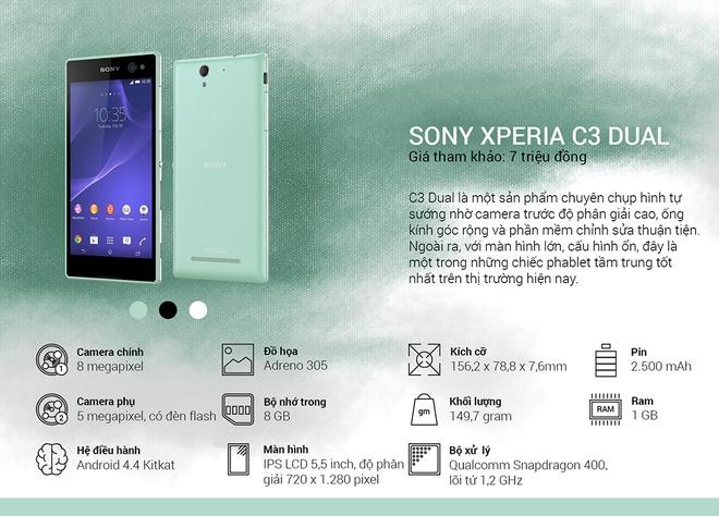Binh chon top 10 smartphone tot nhat thang 10 hinh anh 11 Sony Xperia C3 Dual