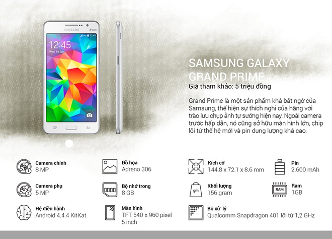 Binh chon top 10 smartphone tot nhat thang 10 hinh anh 14 Samsung Galaxy Grand