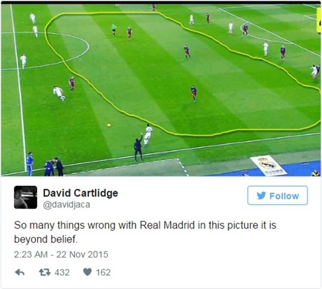 Got chan Achilles cua ga 'khong lo' Barcelona hinh anh 2 Tuyến giữa Real Madrid xuất hiện một khoảng trống rất lớn trong trận thua Barcelona 0-4.