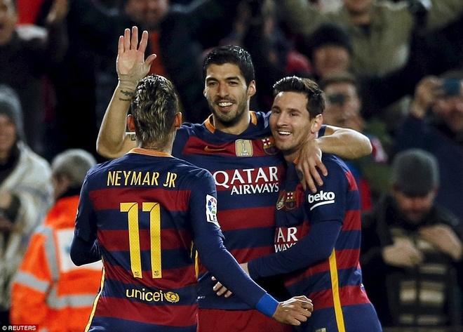 Vi cai dep, Messi - Suarez - Neymar dung roi Barca hinh anh 1