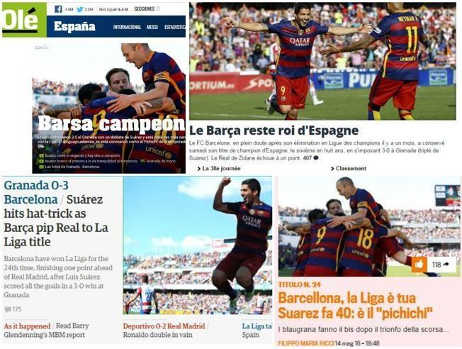 Barca la vua, con Suarez la ong chu La Liga hinh anh 1