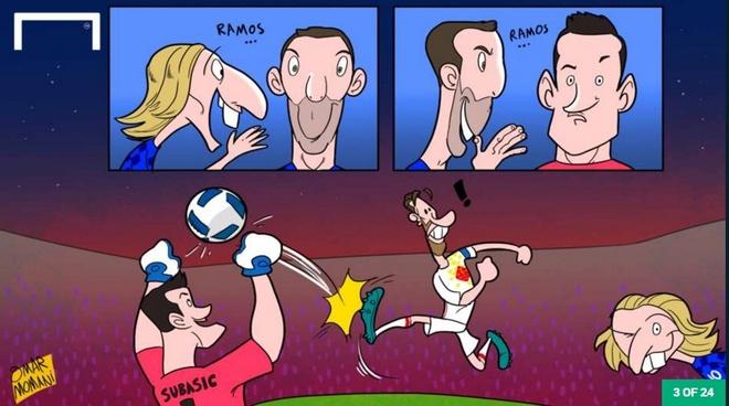 Biem hoa 'co nang dong danh' Ronaldo hinh anh 3