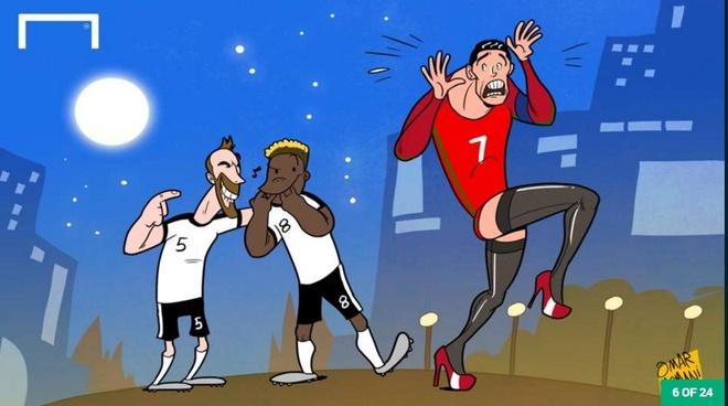 Biem hoa 'co nang dong danh' Ronaldo hinh anh 6