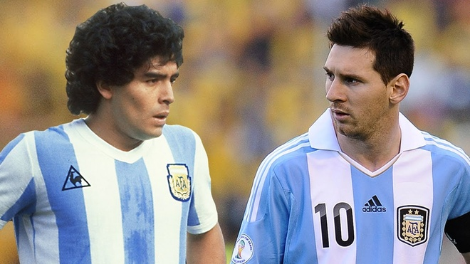 Maradona va Messi: Thanh than va pham nhan hinh anh