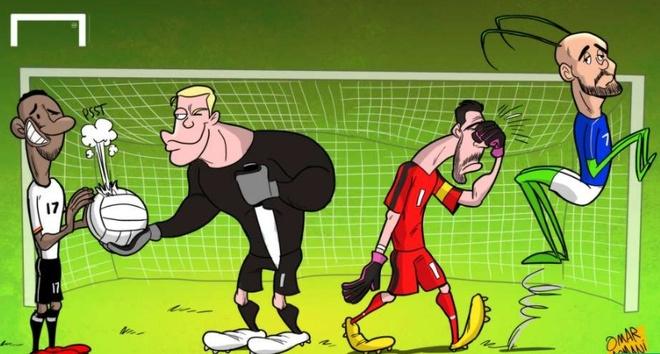 Biem hoa Ronaldo goi dien tham Messi trong tu hinh anh 2