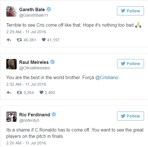Ronaldo chan thuong, Bale len tieng dau tien hinh anh 1