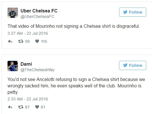 Mourinho phu phang voi fan Chelsea hinh anh 1