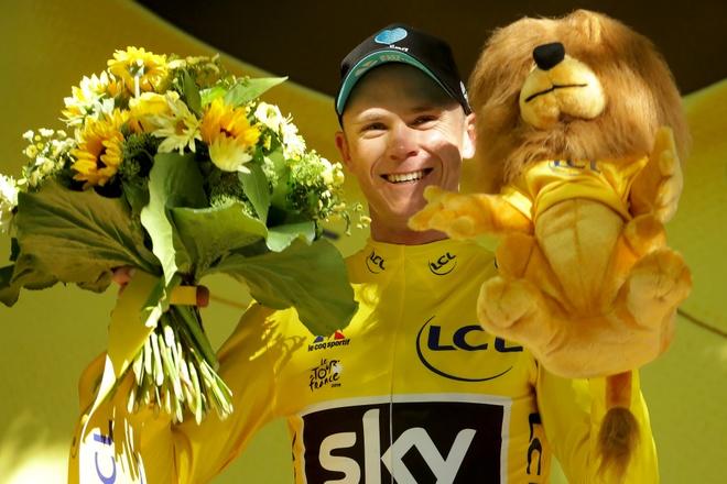 Chris Froome lan thu ba vo dich Tour de France hinh anh