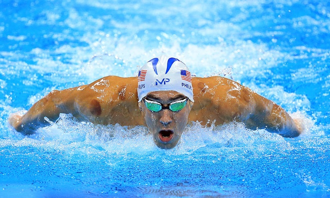 Michael Phelps san bang ky luc 2168 nam cua Olympic hinh anh