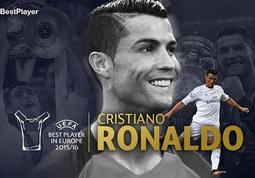 Ronaldo lan thu hai gianh giai Cau thu hay nhat chau Au hinh anh