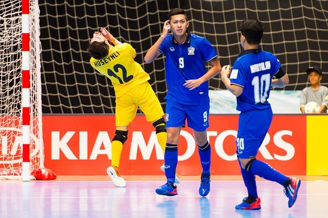 Thai Lan roi giai futsal World Cup sau khi thua Azerbaijan hinh anh 1