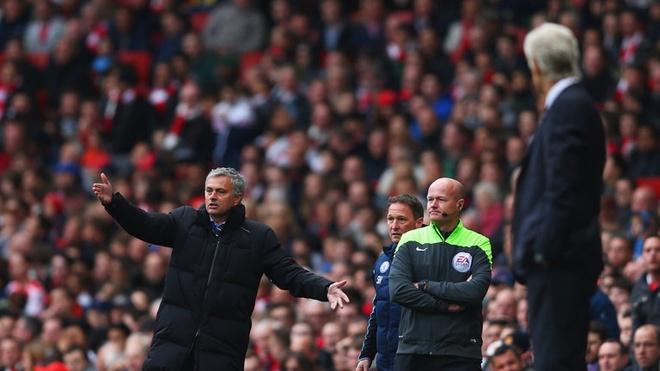 Mourinho len tieng vu dam vo mat Wenger hinh anh 1