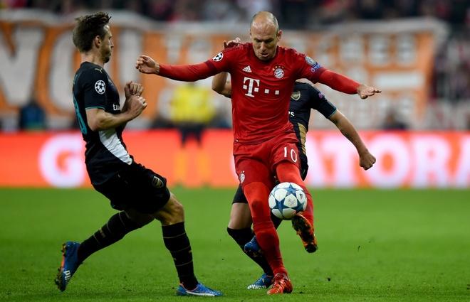 Arsenal khong viec gi phai run ray truoc Bayern hinh anh 1