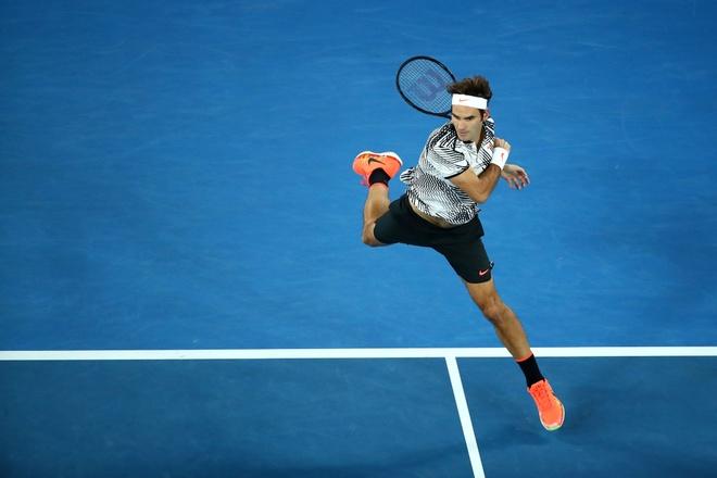 Federer,  nguoi sinh ra hai lan o Australian Open anh 2
