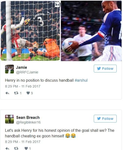 Binh vu 'ban tay ban', Thierry Henry bi nem da tren mang hinh anh 1