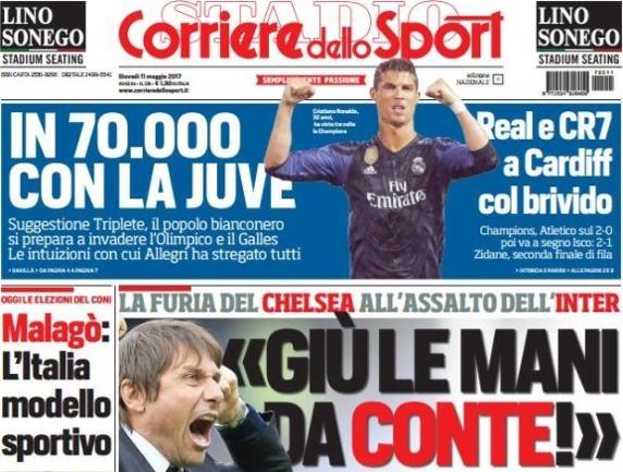 Bao Italy: Ronaldo nen coi chung Buffon anh 1