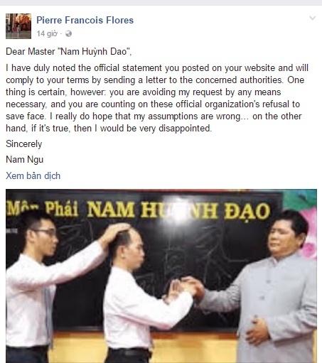 Chuong mon Nam Huynh Dao lan tranh loi thach dau cao thu Vinh Xuan? hinh anh 1