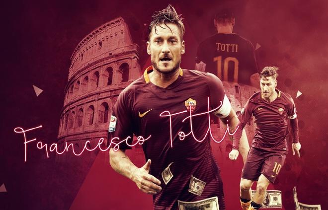 Francesco Totti, tuong dai sung sung  truoc manh luc dong tien hinh anh