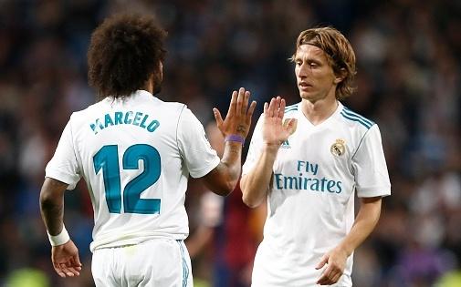 Marcelo 'bat' Modric trong ngay Real guc nga truoc Girona hinh anh
