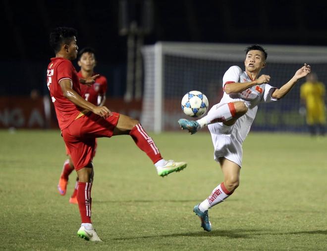 Lay cong bu thu, U21 Viet Nam gianh 3 diem truoc Myanmar hinh anh 2