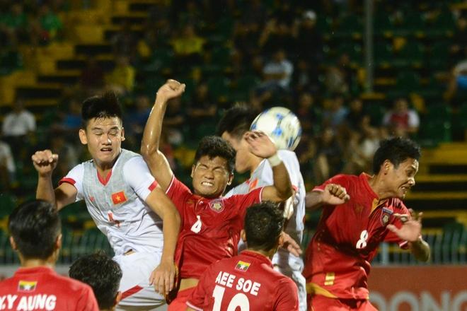 Lay cong bu thu, U21 Viet Nam gianh 3 diem truoc Myanmar hinh anh