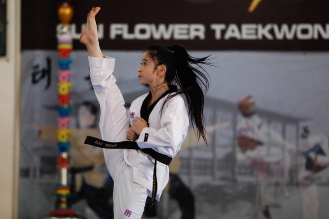 Hoa khoi taekwondo Chau Tuyet Van va cai Tet Mau Tuat 2018 dac biet hinh anh 1