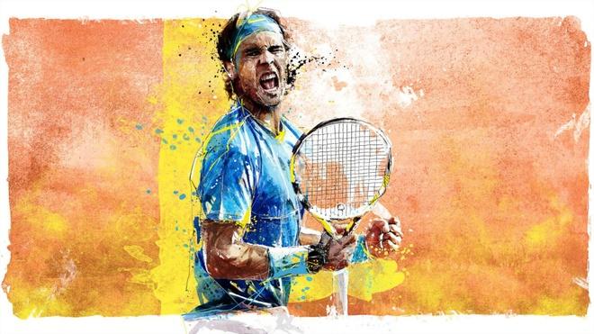 Rafael Nadal nhu nguoi tu sao Hoa tren san dat nen hinh anh