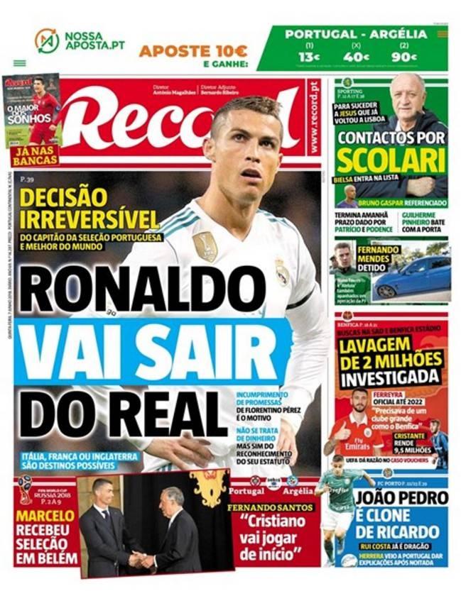 Bao Bo Dao Nha: Ronaldo chac chan roi Real Madrid hinh anh 1