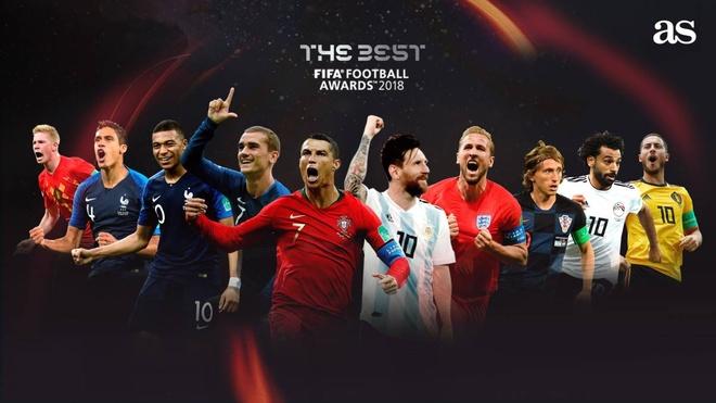 Top 10 ung vien giai 'The Best': Co Ronaldo va Messi, Neymar bi loai hinh anh