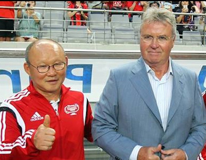 HLV Park Hang-seo hao huc duoc cham tran Guus Hiddink hinh anh