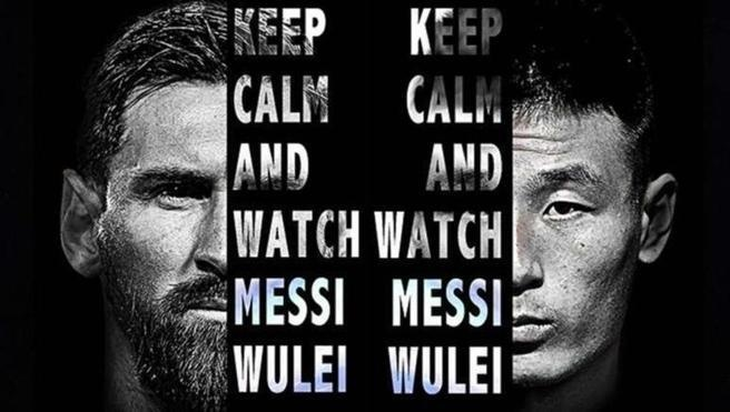 Wu Lei va tran derby voi Messi tao con sot o Trung Quoc hinh anh 1