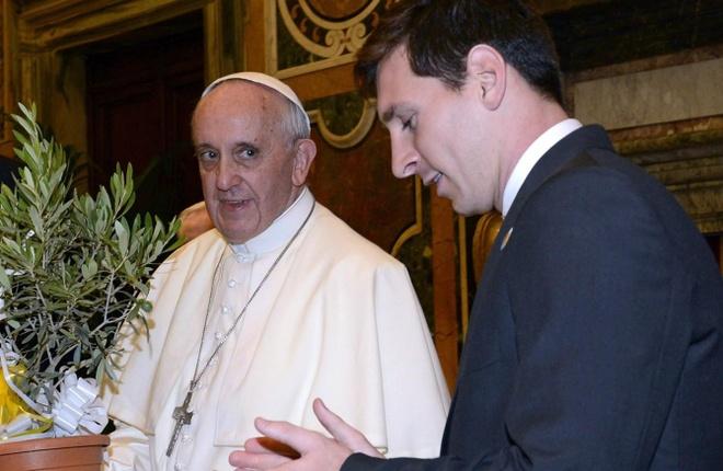 Giao hoang Francis: 'Messi khong phai la Chua' hinh anh 1