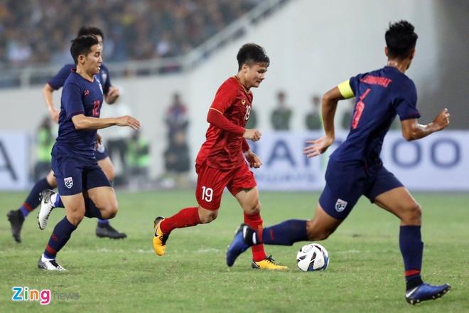 Tuyển U23 Việt Nam từng đè bẹp U23 Thái Lan trong năm 2019. Ảnh: Minh Chiến.