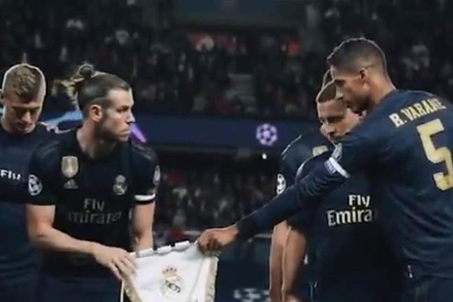 Bale kho chiu khi cam huy hieu cua Real Madrid hinh anh