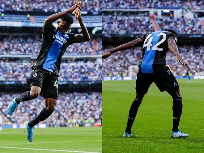 Tien dao Club Brugge giai thich kieu an mung giong Ronaldo hinh anh 1