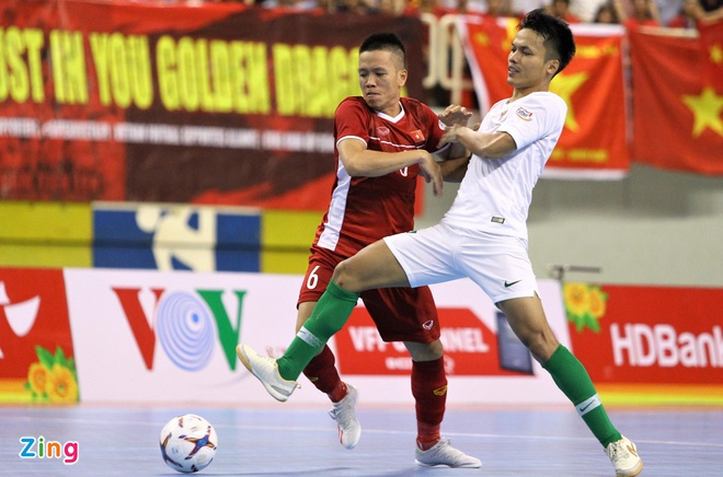 Phung phi co hoi, tuyen futsal Viet Nam hoa Indonesia hinh anh 2