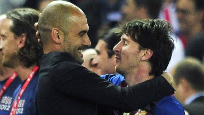 Pep Guardiola thua nhan may man vi duoc dan dat Messi hinh anh 1