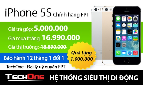 iPhone chinh hang FPT giam gia manh tai TechOne hinh anh