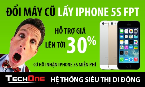 TechOne doi iPhone cu lay iPhone 5S chinh hang FPT hinh anh