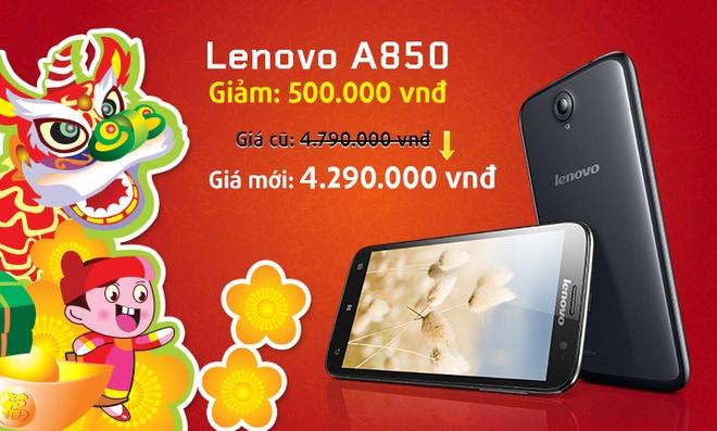 Smartphone Lenovo giam gia manh dip Tet hinh anh