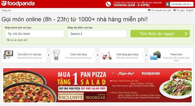 Mua Pizza Hut, tang salad voi foodpanda hinh anh